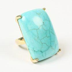 <b>Amrita Singh</b> Semi-precious Ring, Green Turquoise, $25 (originally $100)