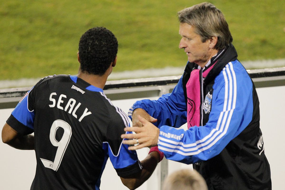 Head coach Frank Yallop is prepared to give Scott Sealy his first start in two months as the San Jose Earthquakes face Real Salt Lake in Sandy, Utah Saturday night.