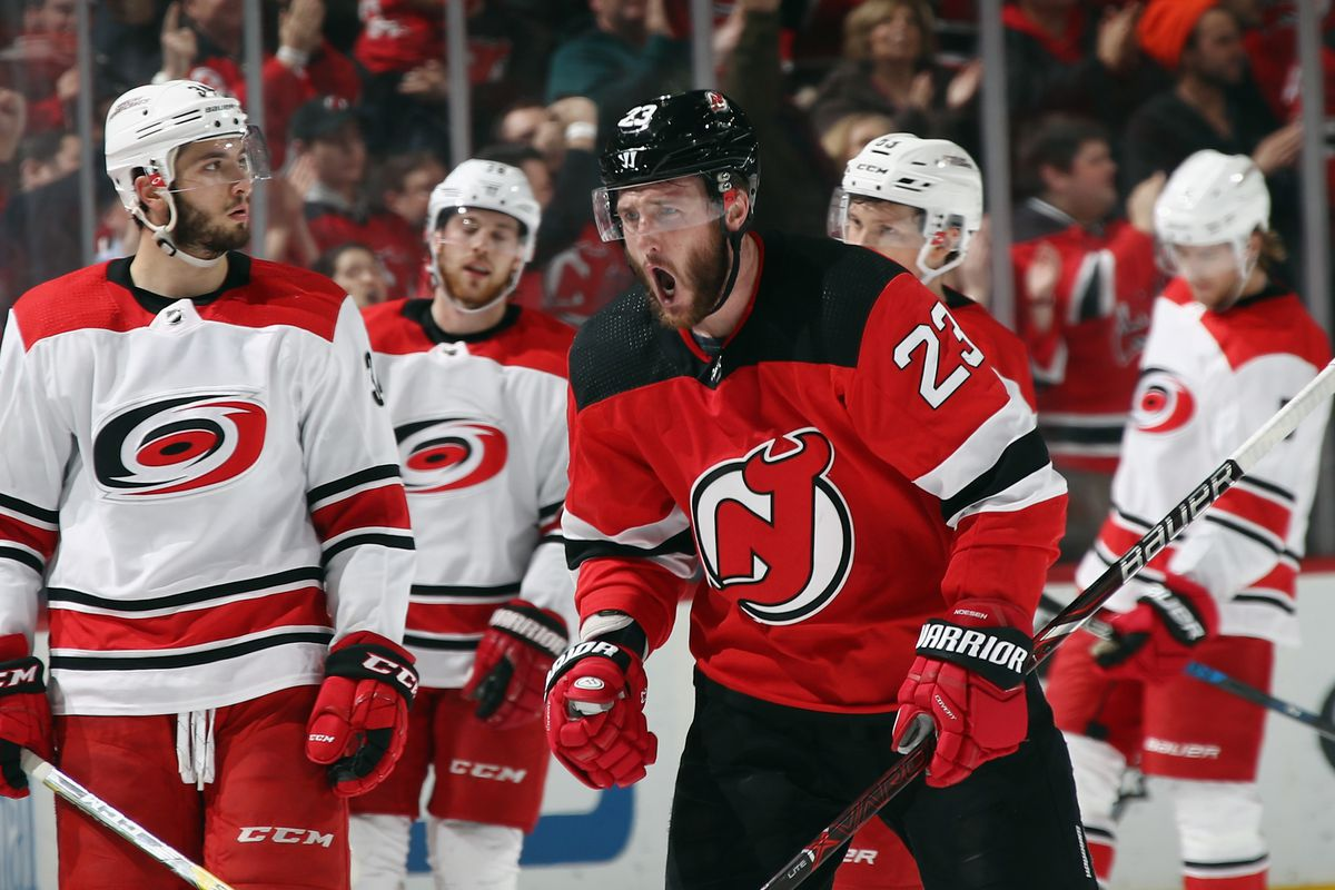Noesen on the Rebound! New Jersey Devils Win with Dramatic Comeback Over  Carolina Hurricanes bb4b29697