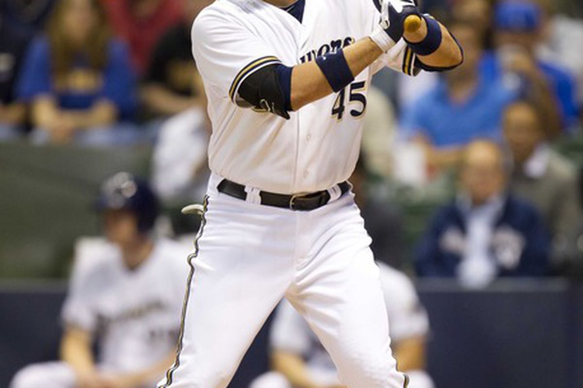 The Brewers best, and most often used, pinch-hitter in 2012.