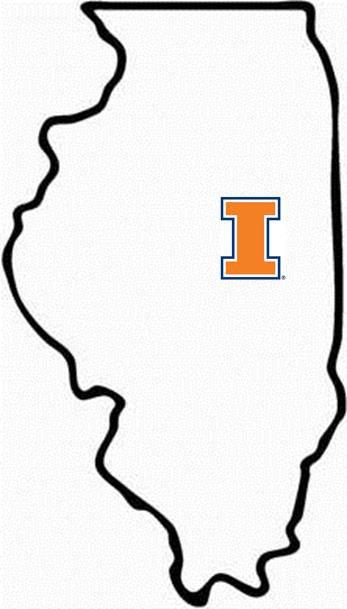 University of Illinois Map