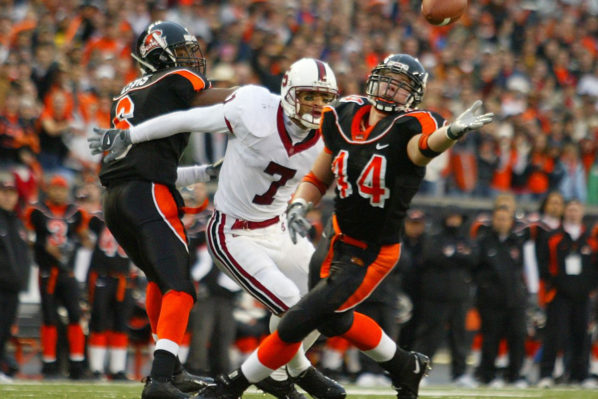 Trent Bray when he played at Oregon State
