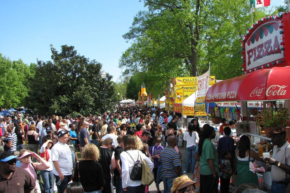 A scene from Atlanta's Dogwood Festival, also on tap for coming weeks.