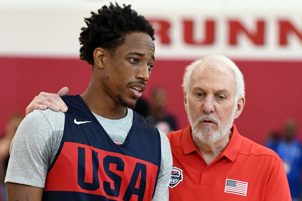 low priced 529b2 6a5b7 DeMar DeRozan ready to be in a Spurs jersey - Pounding The Rock
