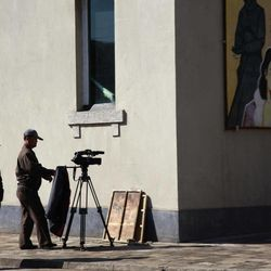 In this photo taken Tuesday, Oct. 25, 2011, a North Korean man prepares for filming at a film studio in Pyongyang, North Korea. An international film festival opens Thursday, Sept. 20 in the unlikeliest of places: North Korea. Held every two years, the Pyongyang International Film Festival is the only time North Koreans get to see a wide array of foreign films on the big screen. It's also the only time foreigners are allowed into North Korean movie theaters to see films alongside the locals.