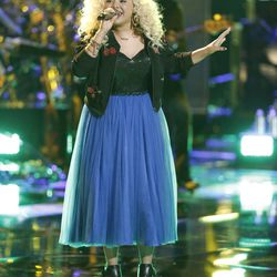 """Aaliyah Rose in the live playoffs on NBC's """"The Voice."""""""