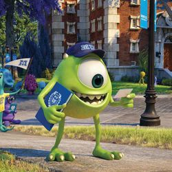 """Mike in """"Monsters University."""""""