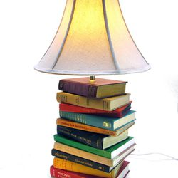 <b>Love Hue Studio</b>  book lamp, $140