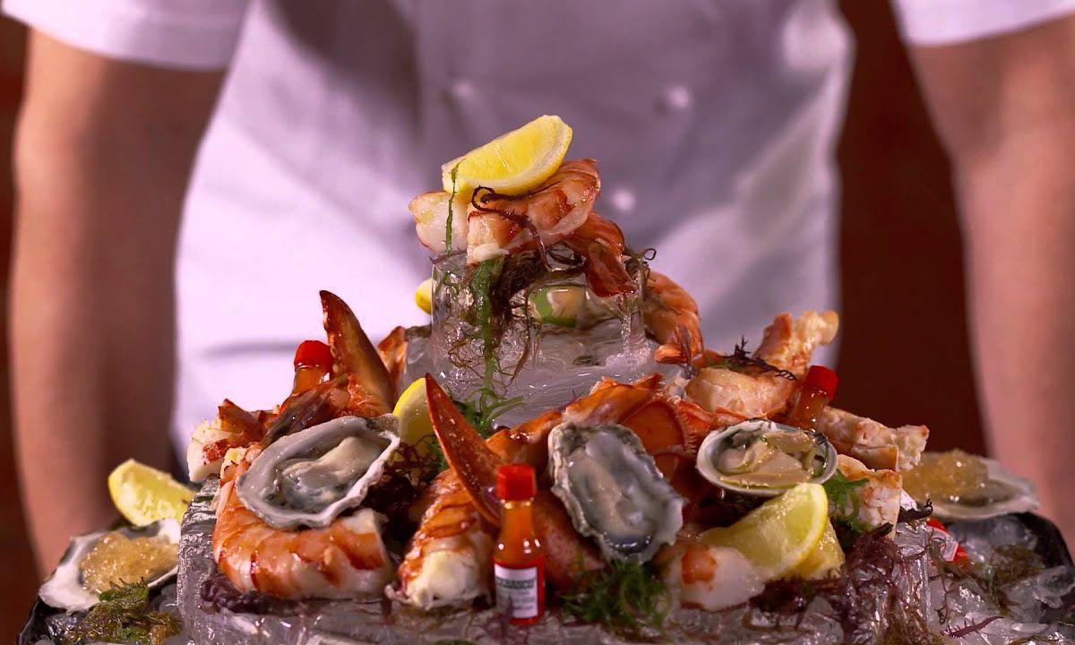 The shellfish platter at Gordon Ramsay Steak