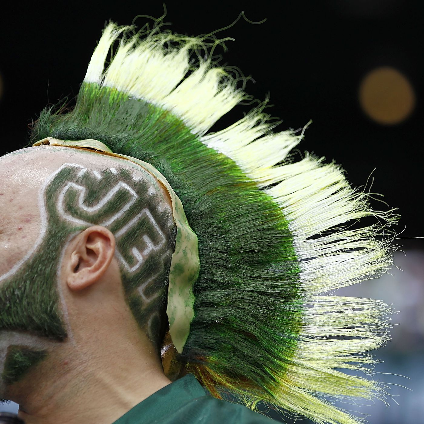 Image result for new york jets green hair
