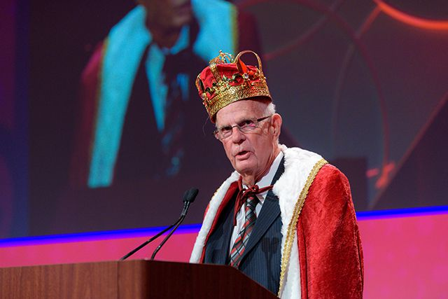 Appalachian_league_president_lee_landers_accepts_the_2017_king_of_baseball_award_at_the_2017_banquet.