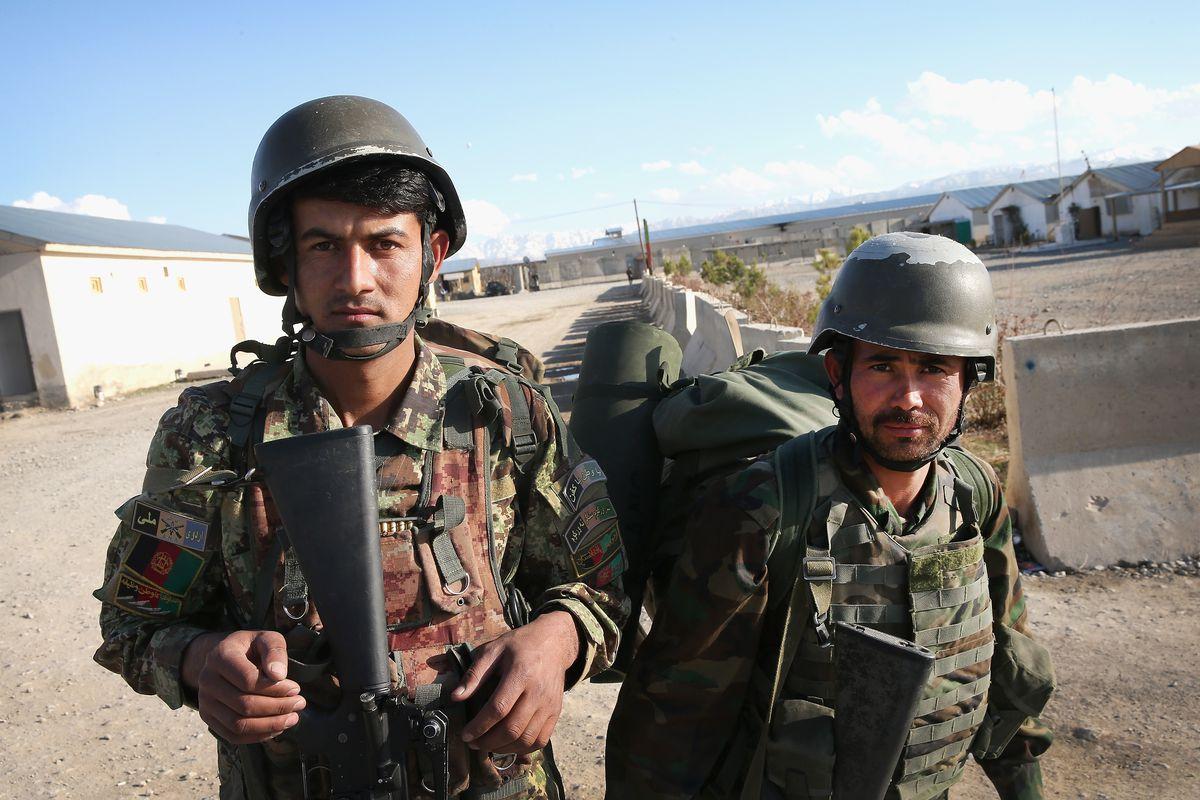 Afghan National Army soldiers.