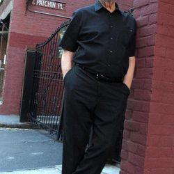 """This 2011 photo shows author Pete Hamill near Patchin Place in New York, where he set a fictional murder in his novel, """"Tabloid City."""" Hamill, a native of Brooklyn, is one of more than 280 writers who will take part in the Sept. 23 Brooklyn Book Festival, where Hamill is scheduled to receive an award called """"Best of Brooklyn, Inc."""""""