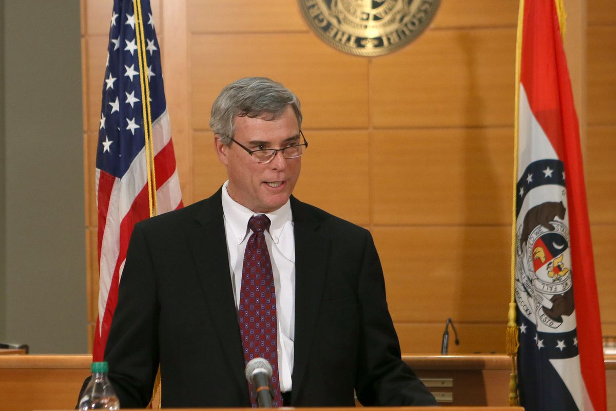 Prosecutor Bob McCulloch announced the grand jury's decision.