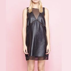 """<strong>Shakuhachi</strong> Floating Panel Shift Dress with Sheer Detail in Black, <a href=""""http://www.miramirasf.com/post/55009836750"""">$270 AUD</a>, available soon at Mira Mira"""