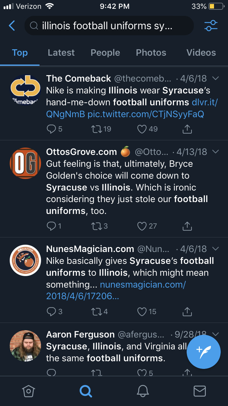 """ba90fbc04 The best part was that the internet hive-mind decided that the """"take"""" to  repeat into the echo chamber was that Nike just gave us Syracuse's uniforms."""