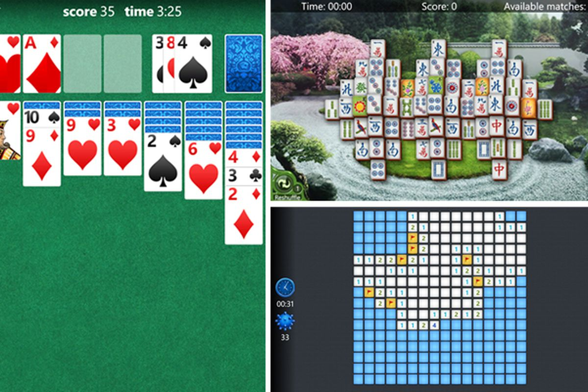 Microsoft releases Solitaire, Mahjong, and a new Minesweeper