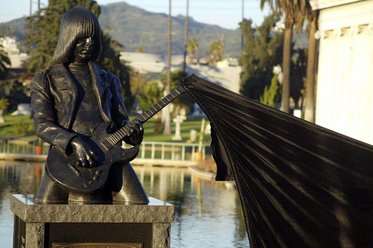 Johnny Ramone Statue Unveiling