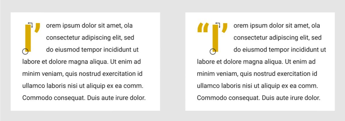 Preview of apostrophe punctuation and letter pairing with Lorem Ipsum text