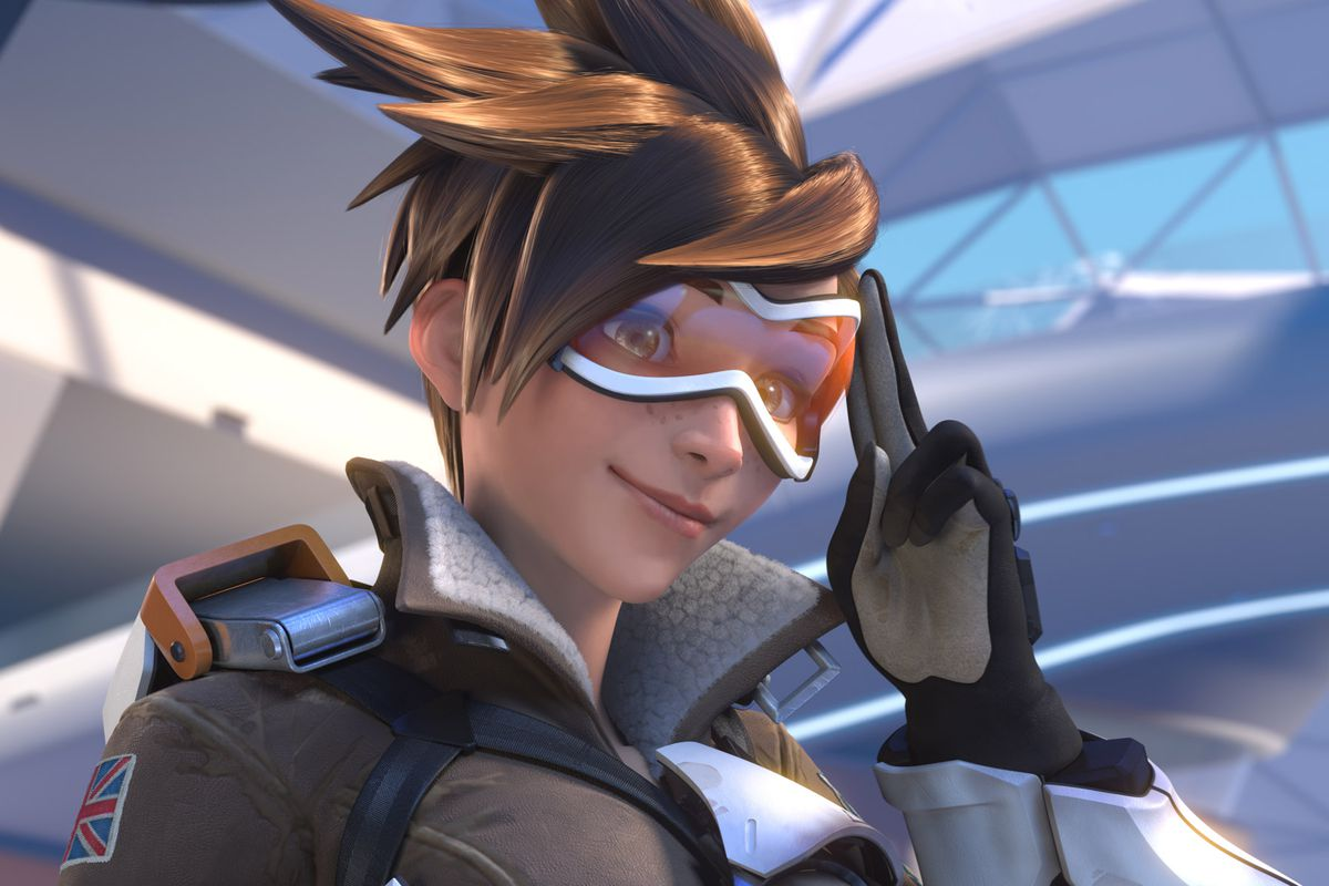 Tracer from Overwatch's cinematic debut trailer
