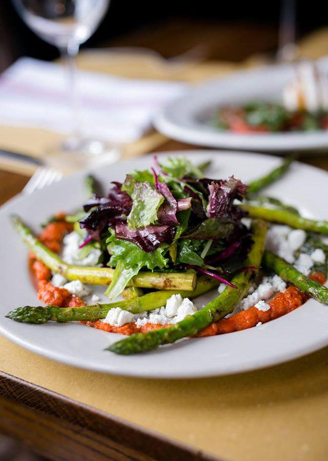 Grilled asparagus salad at Trattoria Lisina