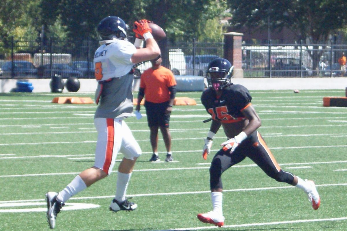 WR Richard Mullaney, Oregon St.'s most experienced receiver, returned to practice today.