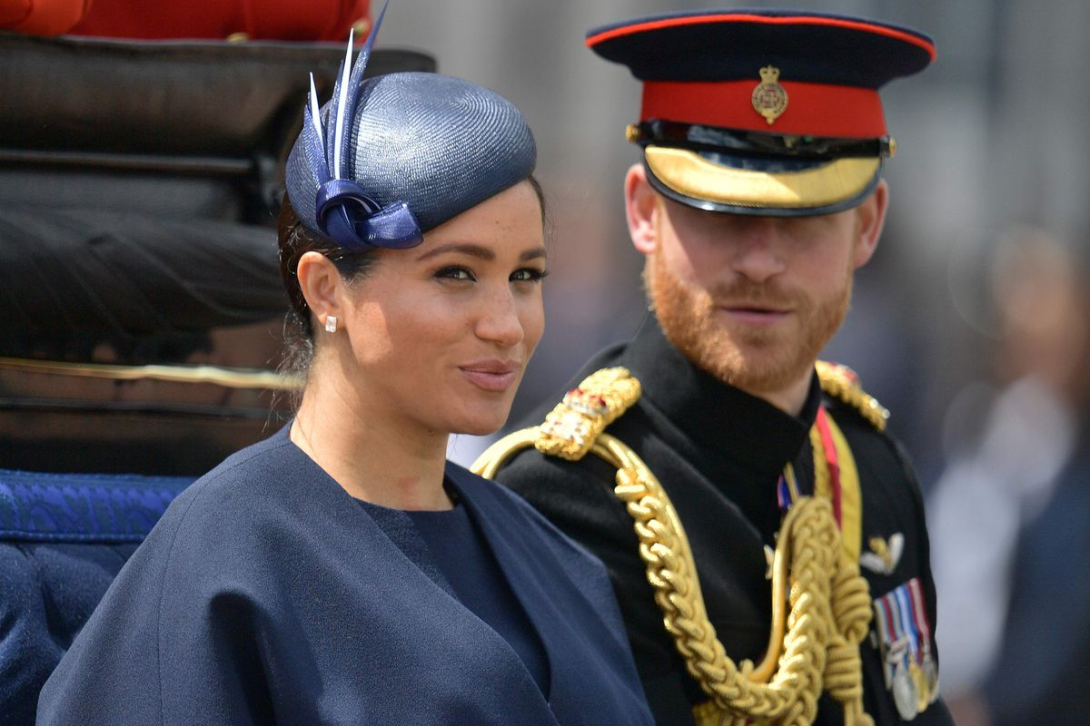 Meghan, Duchess of Sussex and Prince Harry, Duke of Sussex, return to Buckingham Palace after the Queen's Birthday Parade in London in June.