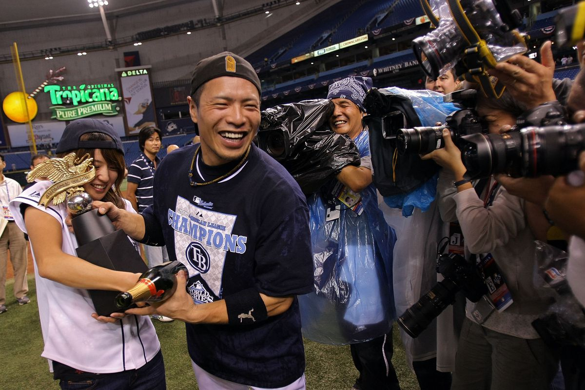 Aki Iwamura, second baseman for the 2008 Rays