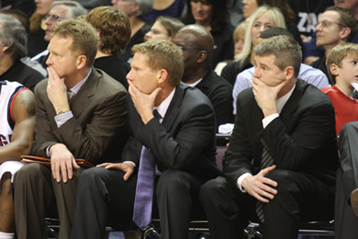 Coach Rice (far right) discusses the relationship he shares with the rest of the staff during this terrific interview.