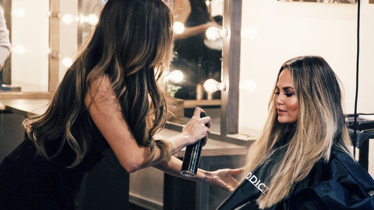 I Attended An Intense Hair Extension Class With Chrissy Teigen