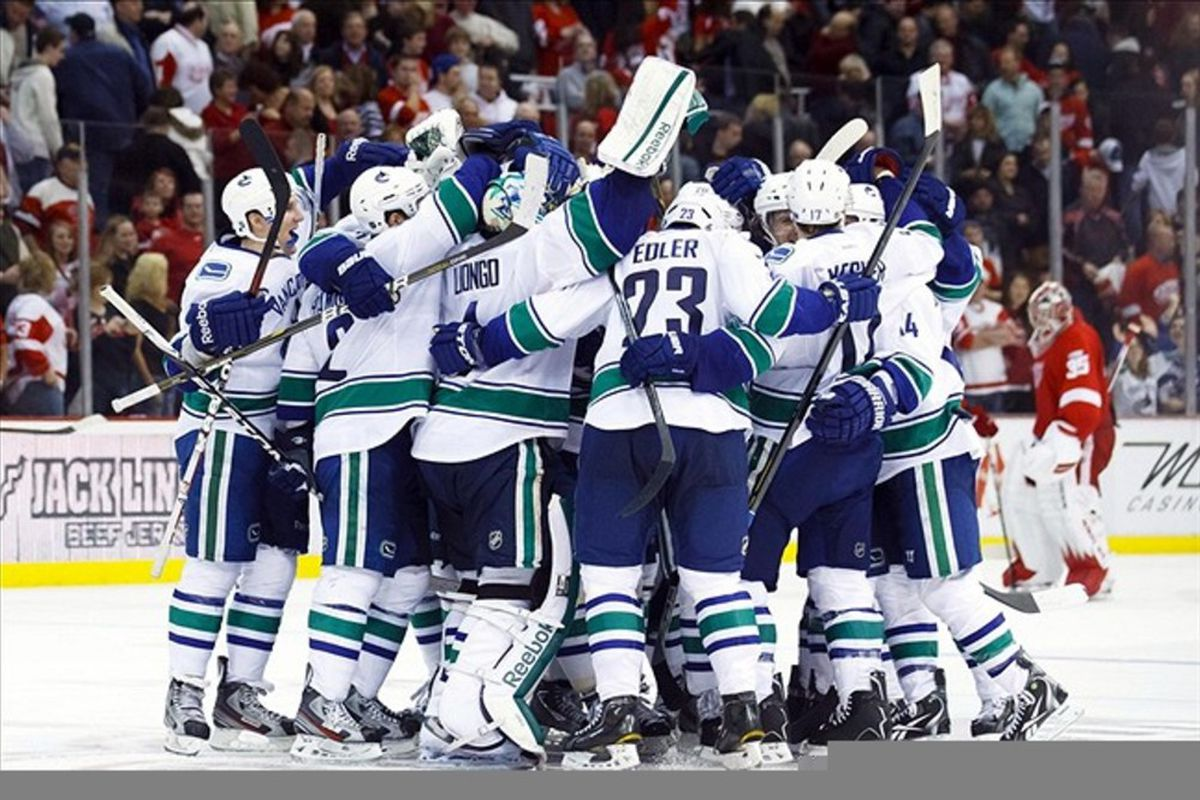 That's what beating Detroit and ending their huge home game winning streak record looks like.