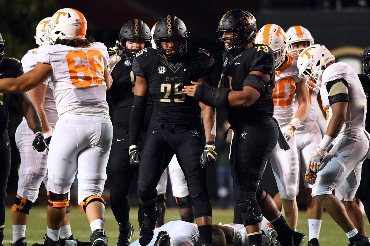 NCAA Football: Tennessee at Vanderbilt