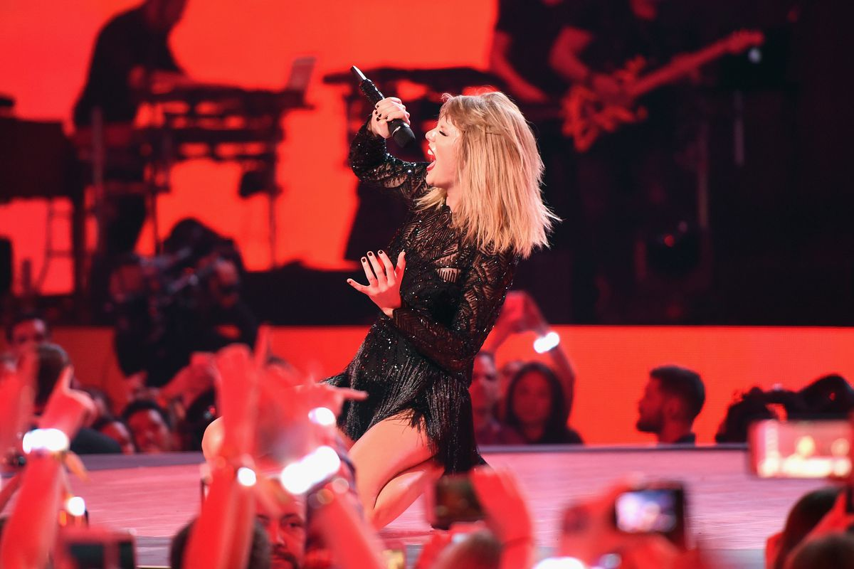 Taylor Swift performs at a February 2017 concert in Houston.