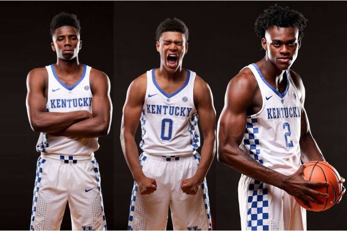 Kentucky Wildcats Basketball 2017-18 Team Photo
