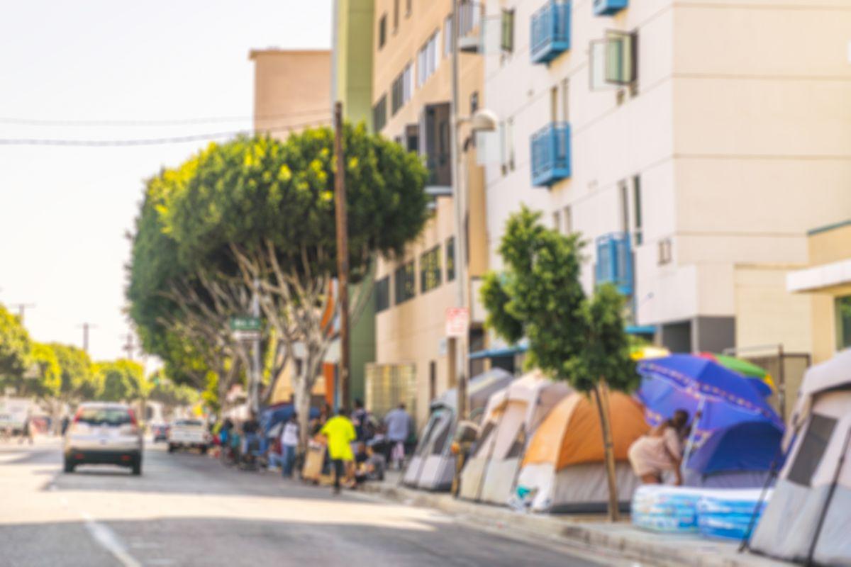 Homeless encampments Downtown