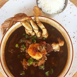 A bowl of Sabine Pass Gumbo, a family tradition.