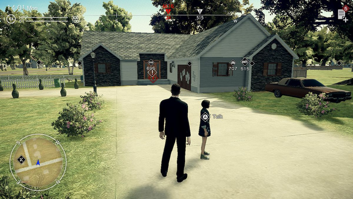 Agent York stares stands outside of a house in Deadly Premonition 2: A Blessing in Disguise