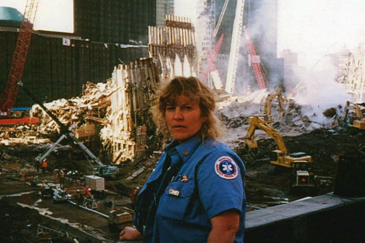 Claudia Thomas, a former firefighter and EMT from out of state, said she spent several weeks working at Ground Zero as a volunteer.