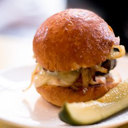 """Beef slider from Melt in Park Slope, by <a href=""""http://www.flickr.com/photos/erin_can_spell/5627674776/"""">erin & camera</a>."""