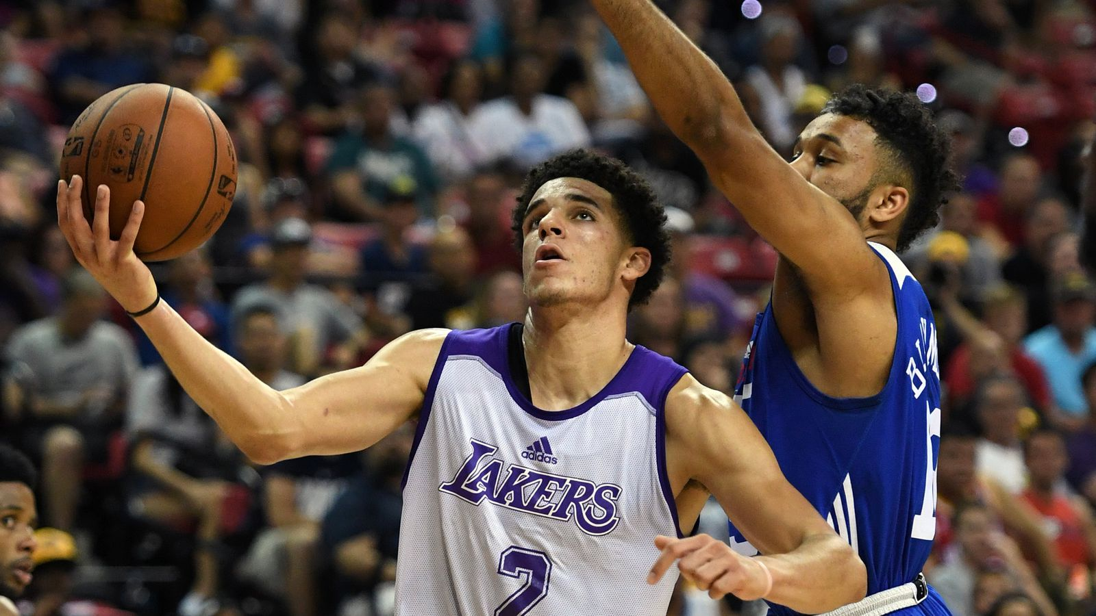 La Lakers Lonzo Ball Stats >> Watch: Highlights of Lonzo Ball's breakout Las Vegas Summer League performance against the 76ers ...