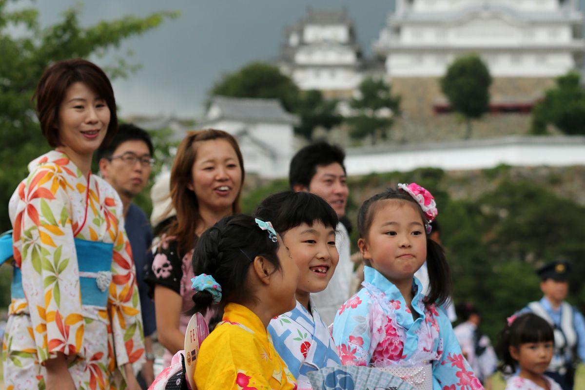 Japanese women and children.