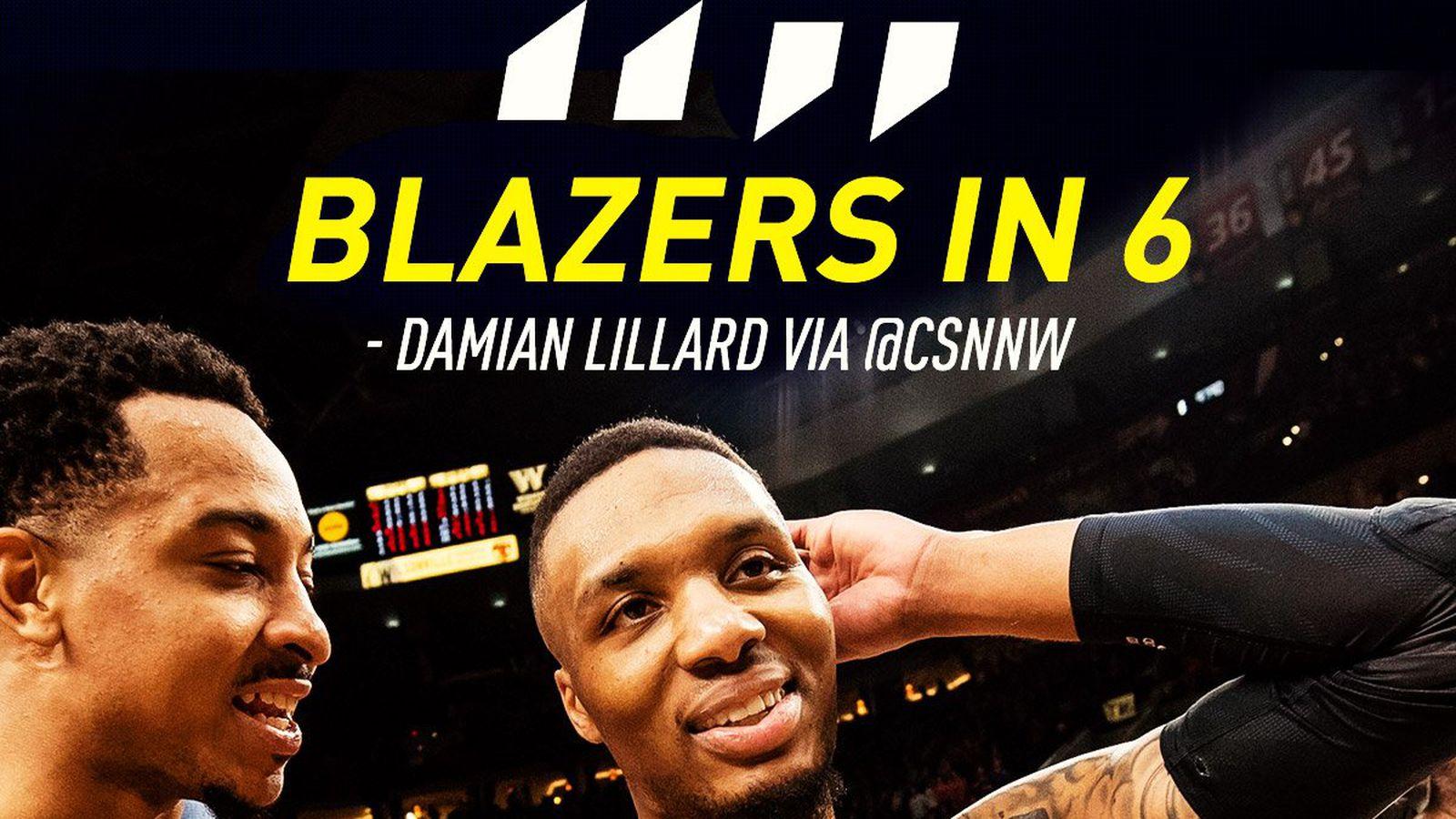 Damian Lillard's 'Blazers in 6' prediction actually isn't a big ...