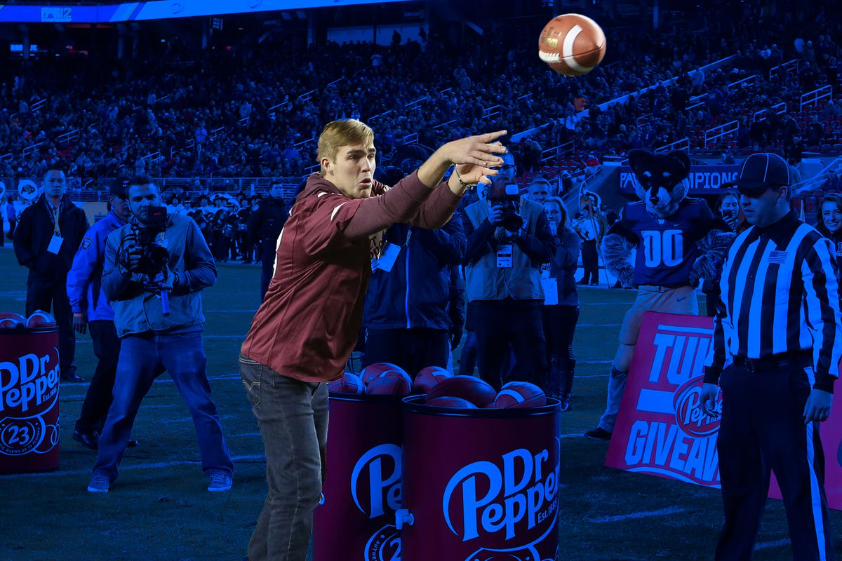 Kyle Degman, a junior at George Fox University and 2016 winner of the Dr. Pepper Tuition Giveaway at the Pac-12 Championship Game.
