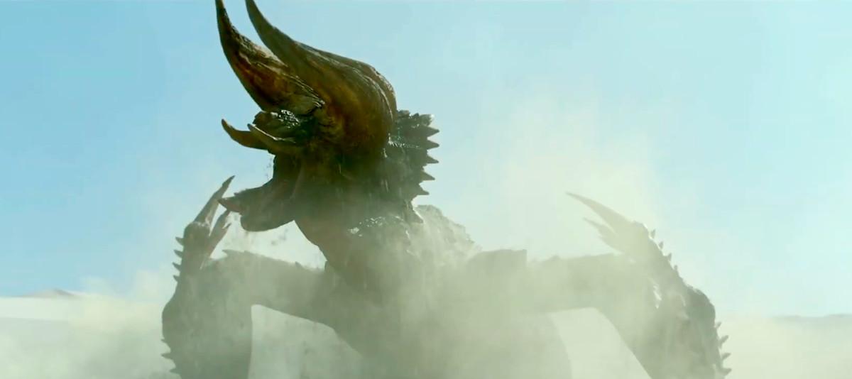 The Black Diablos in Monster Hunter movie roaring