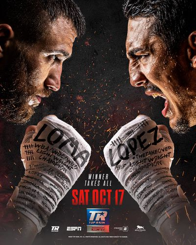 EhzZrroVkAI RVl - Lomachenko-Lopez fight poster released, is actually good