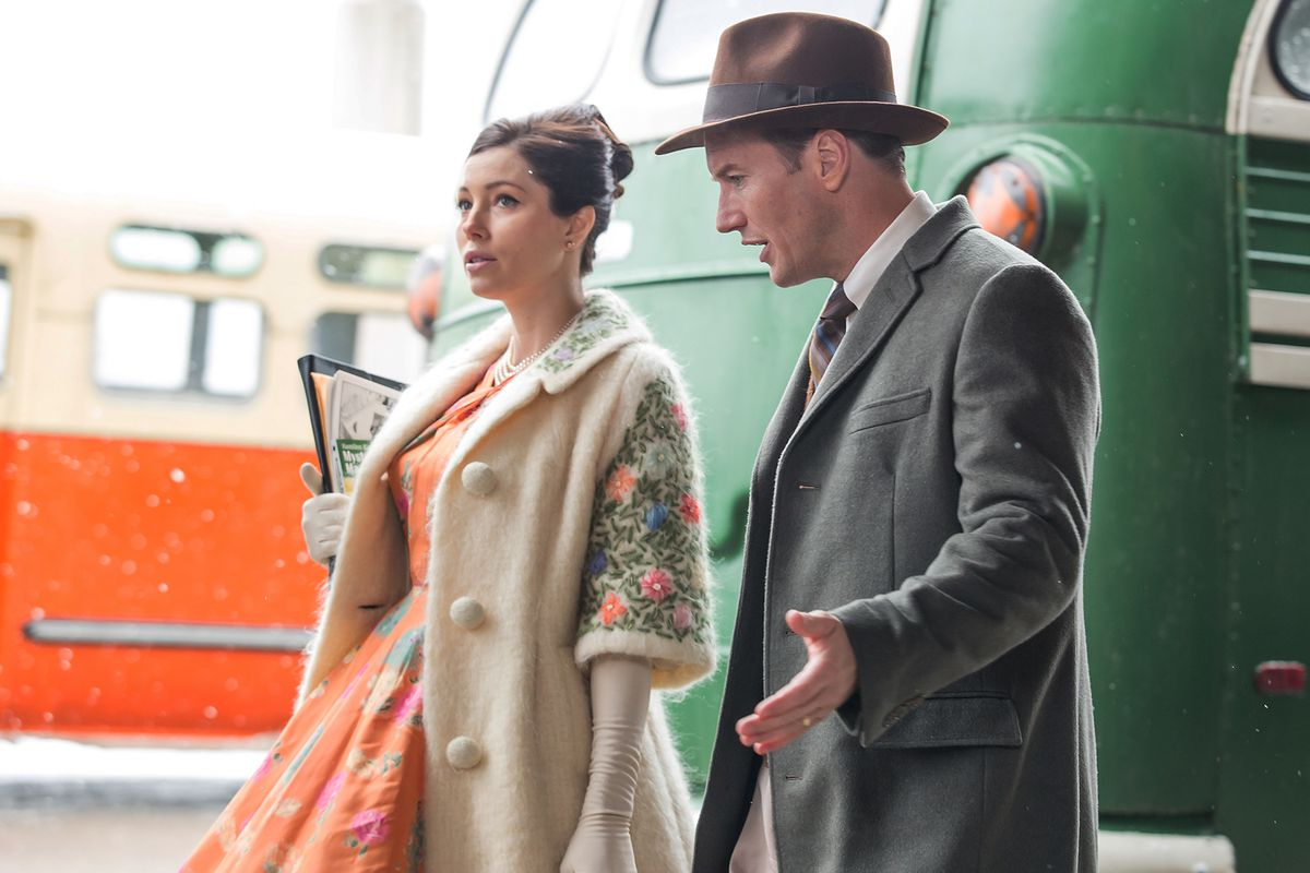 Jessica Biel and Patrick Wilson in A Kind of Murder