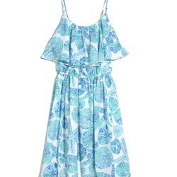 'Sea Urchin For You' flounce dress, $30, 2-18, 14W-26W (plus-size online only)