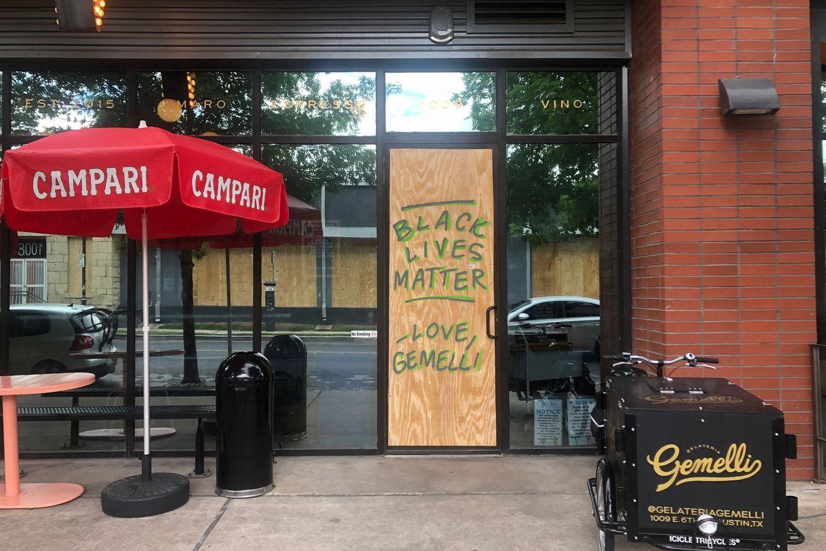 Gemelli's temporary door