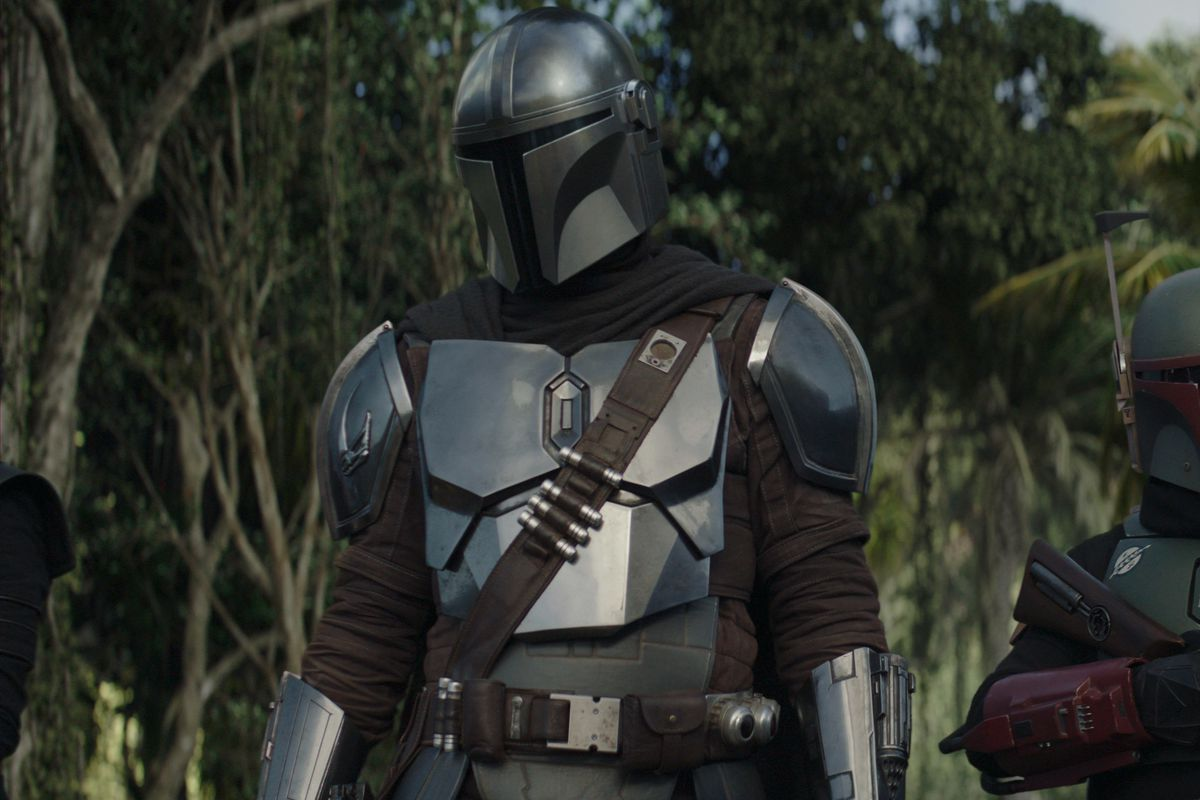 Din Djarin and Boba Fett prepare to infiltrate an Imperial mine.