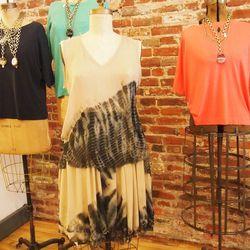 Tie Dye Sleeveless Tee, $324; Tie Dye Skirt, $382
